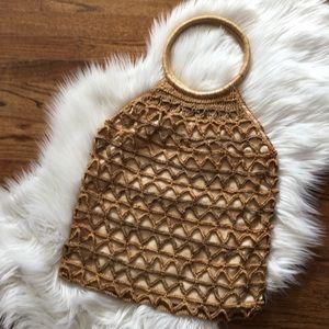Vintage Woven Hobo Bag
